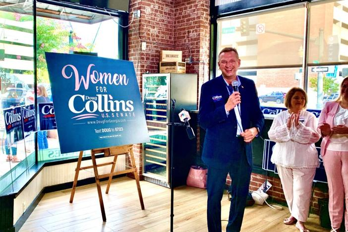 Former Rep. Doug Collins during a recent race for Senate