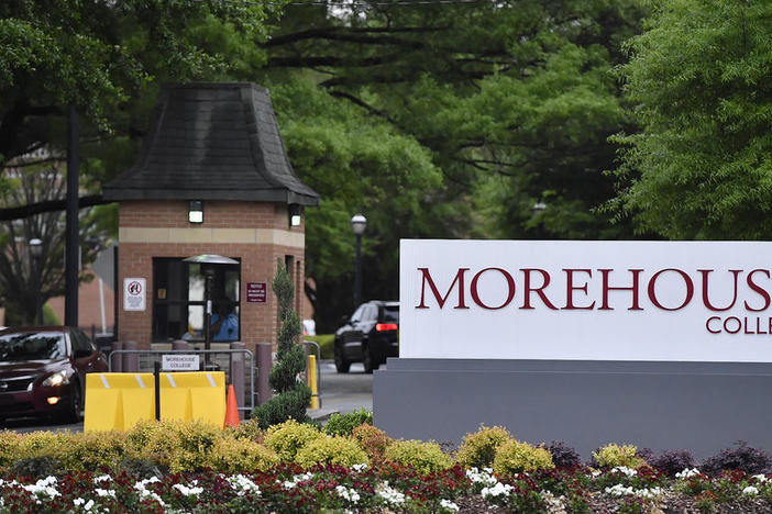The campus of Morehouse College in Atlanta. The college announced it would require all students to get the vaccine for COVID-19 before class begins fall 2021.