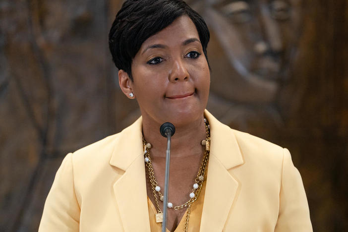 Atlanta Mayor Keisha Lance Bottoms announcing she will not seek reelection.