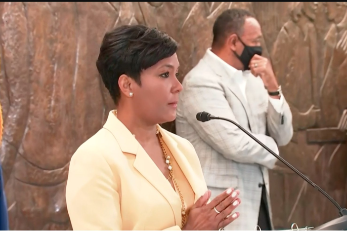 Atlanta Mayor Keisha Lance Bottoms elaborates on her decision not to seek reelection in the 2021 mayoral race during a May 7, 2021, press conference.
