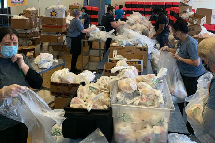 Schools packing meals in Marietta