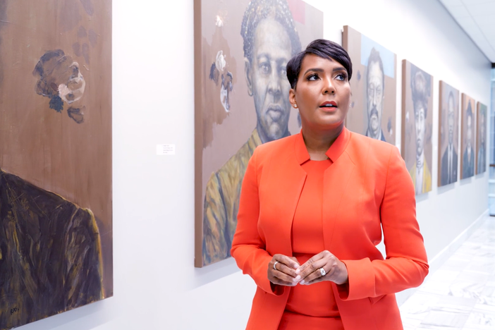 A screenshot from the video in which Atlanta Mayor Keisha Lance Bottoms announced that she would not be seeking reelection.