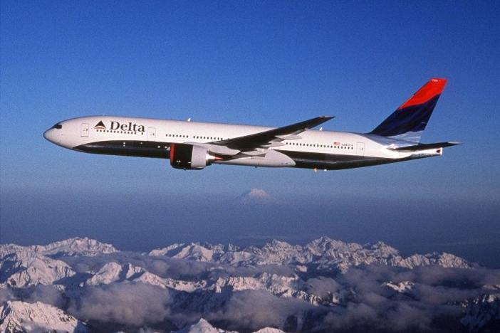 Delta, headquartered in Atlanta, employs nearly 80,000 worldwide.