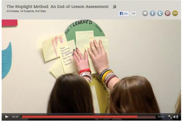 Student's Real Time Lesson Feedback in Sarah Brown Wessling's Classroom