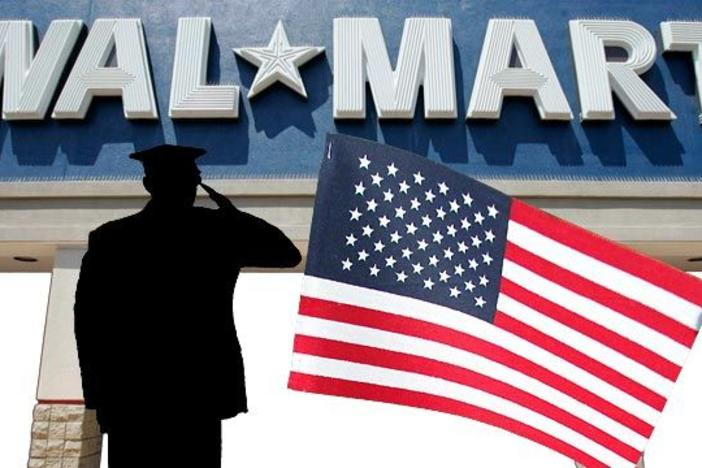 Walmart is trying to hire 100,000 veterans by 2018.