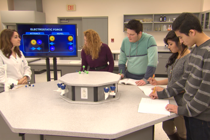In this segment, the students learn about chemical bonds, Lewis diagrams, and ionic bonds.