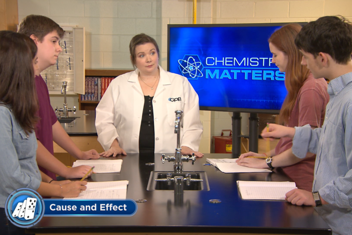 The host introduces solutions, acids and bases and their importance in chemistry.