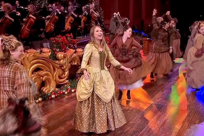 """Just Once a Year"" by the Mormon Tabernacle Choir, with Sutton Foster and Hugh Bonneville."