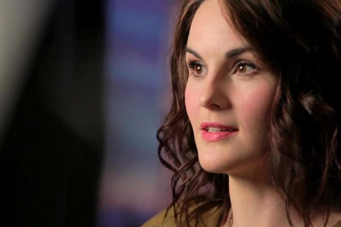 Downton Abbey's Michelle Dockery describes what draws Lady Mary so strongly to Matthew.