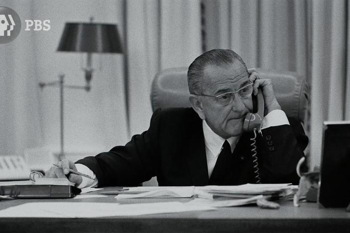 In a taped conversation, President Johnson laments press coverage of the war.