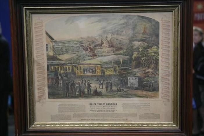 Appraisal: 1863 Railroad Temperance Lithograph, in Naughty or Nice