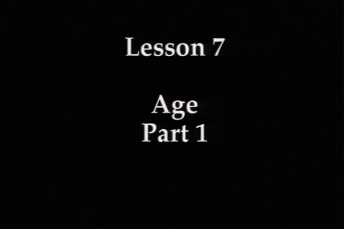 JPN I, Lesson 07. The topics covered are age and numbers 1 ~ 99.