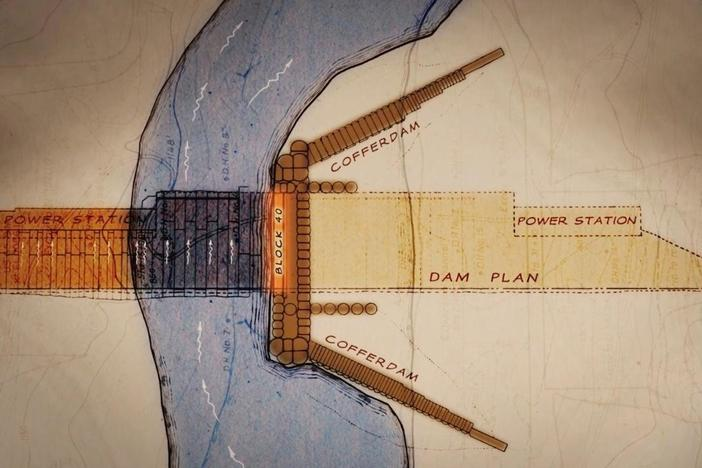 The biggest challenge in building Grand Coulee Dam was diverting the flow of the Columbia.