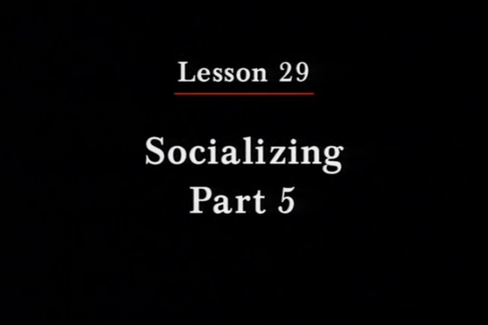 JPN II, Lesson 29. Socializing: invitation to one's home and party planning.