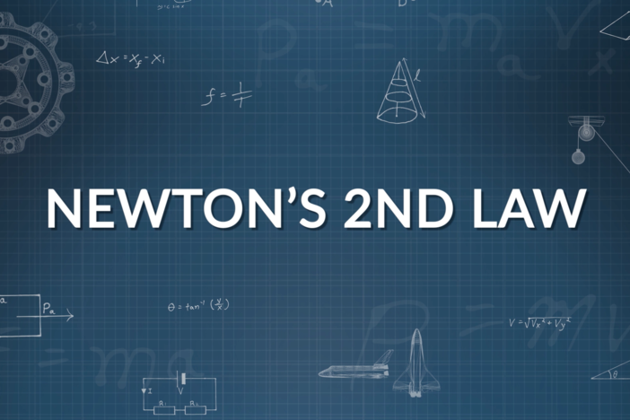 We solve for forces in one dimension and combine kinematic equations with Newton's 2nd Law