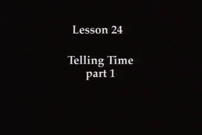 JPN I, Lesson 24 - The topic covered is time. Reading practice covers the hiragana.
