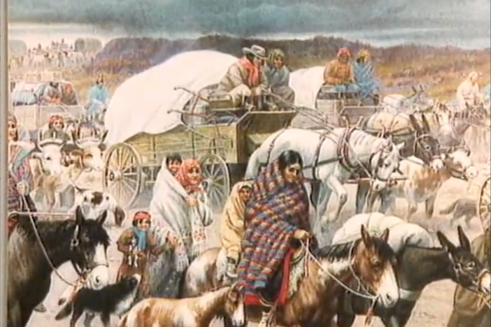 A woman recounts the words she heard from her grandmother who was on the Trail of Tears