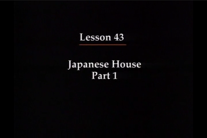 JPN I, Lesson 43. Rules of etiquette when visiting a Japanese home.