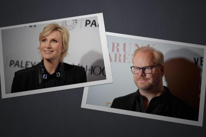 Henry Louis Gates, Jr. explores the roots of actor Jane Lynch and comedian Jim Gaffigan.