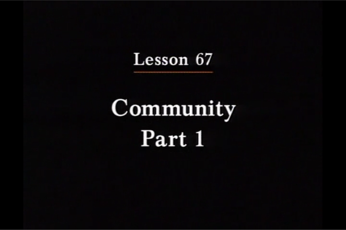 JPN I, Lesson 67. The topics covered are community and location of places.