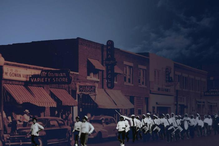 "Greenwood in Tulsa became a thriving business district known as ""Black Wall Street."""