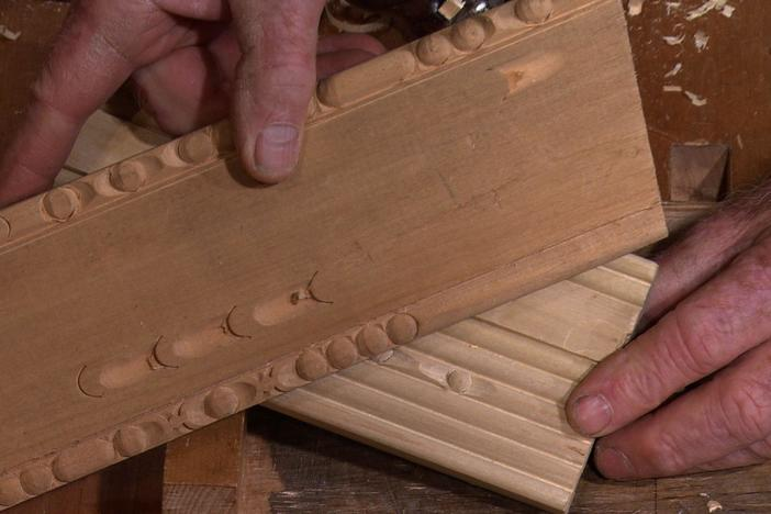 Roy Underhill shows how to cut bead moldings with hand planes for corners that look sharp.