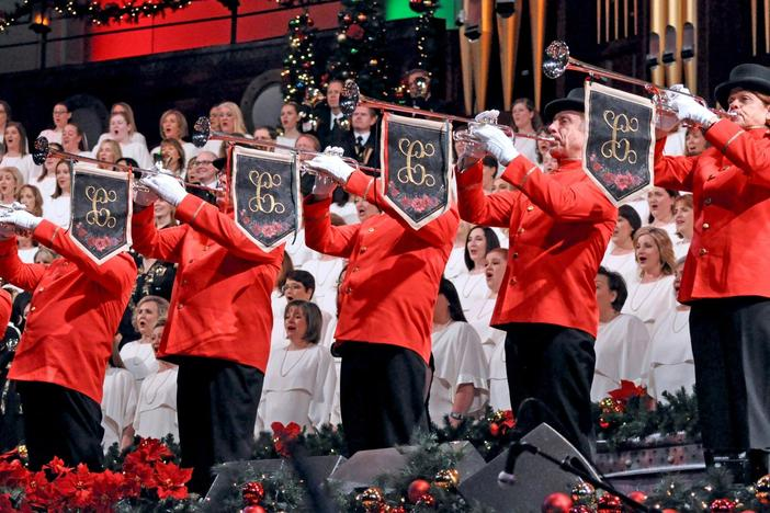 "The Mormon Tabernacle Choir & Orchestra at Temple Square perform ""Joy to the World."""