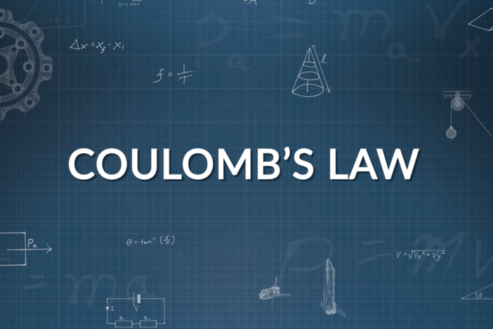 Coulomb's law is broken down with examples such as solving for electrostatic force.