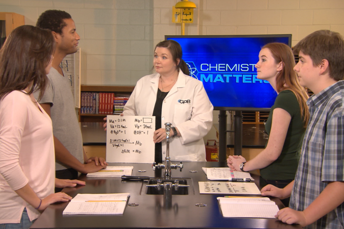 In this segment, the students discuss the data from their titration lab.