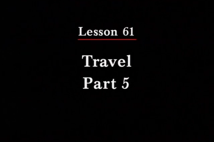 JPN II, Lesson 61. The topics covered are travel and description of items.