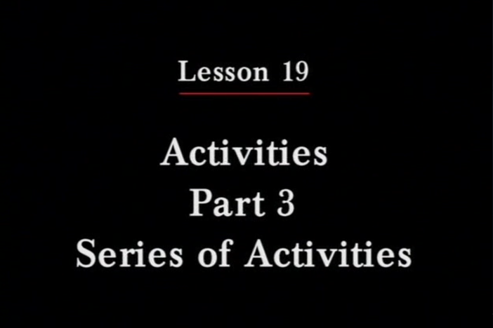 JPN II, Lesson 19. The topic covered is hobbies.