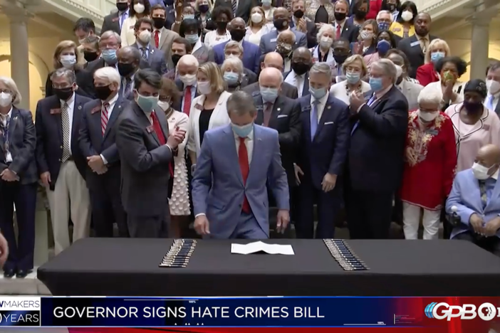 Passing the budget becomes the legislative priority, and Kemp signs the Hate Crimes Law.