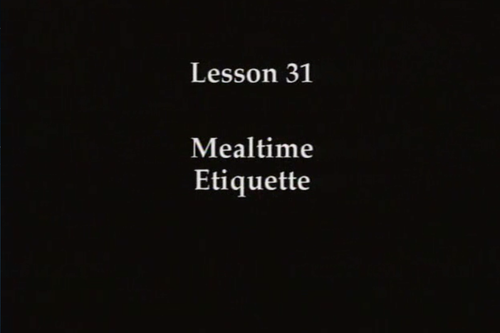 JPN I, Lesson 31. The topic covered is mealtime etiquette.