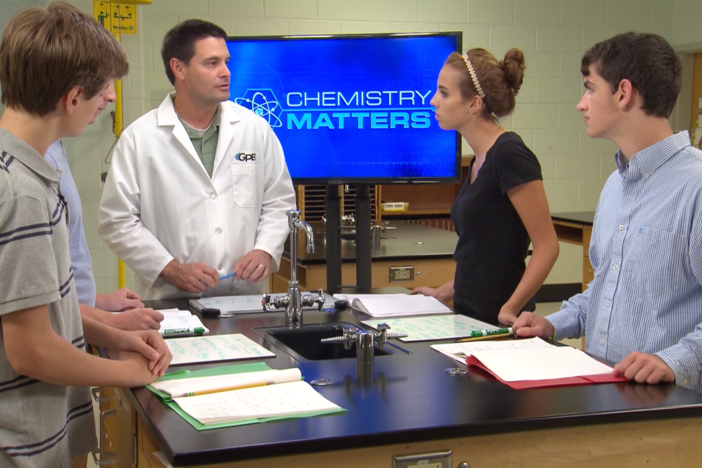 The teacher asks the students to list examples of why chemical equilibrium is important.