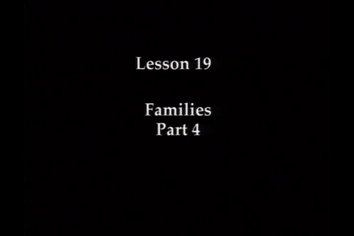 JPN I, Lesson 19. The topic covered is addressing family members