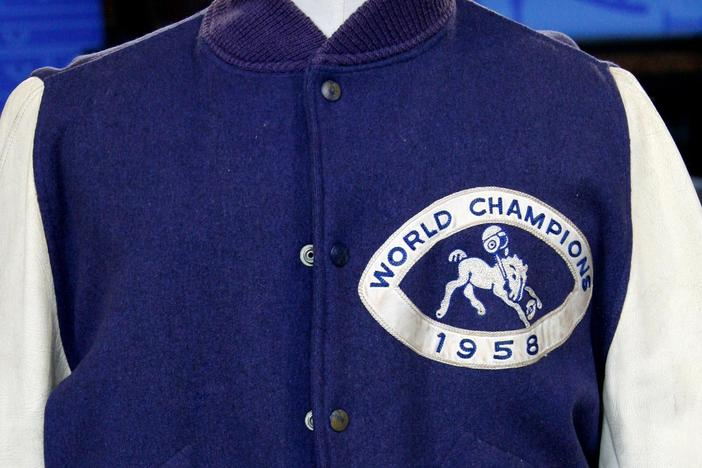 Appraisal: Johnny Unitas 1958 Championship Jacket, from Baltimore Hour 2.