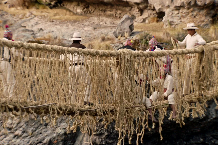 In Peru, people still build traditional Inca grass bridges.