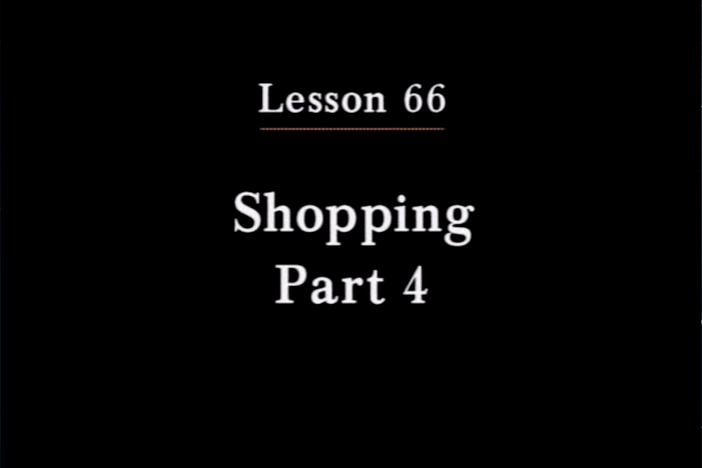 JPN I, Lesson 66. The topic covered is quantities of items.