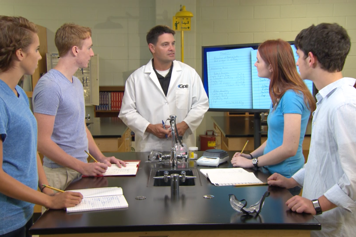 Chemical reactions are the focus of this segment.