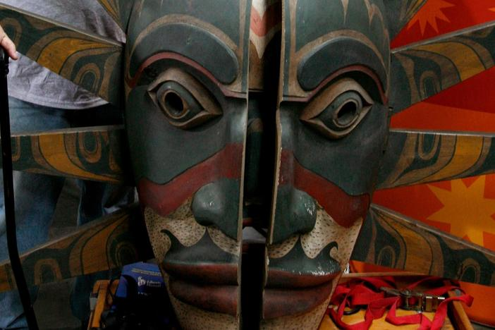 Appraisal: Kwakiutl-Style Transformation Mask, from Baltimore Hour 2.