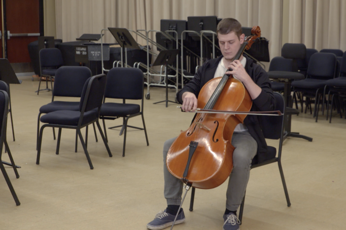 We visit a university orchestra to help us understand wave interference.