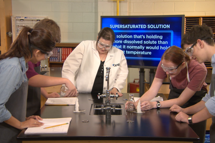 In this segment, students learn about solubility, insolubility, and saturated solutions.