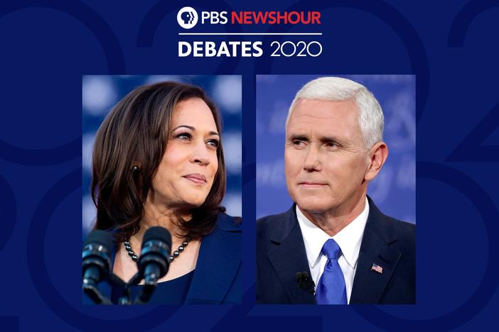 Vice President Mike Pence meets Sen. Kamala Harris in the vice presidential debate.