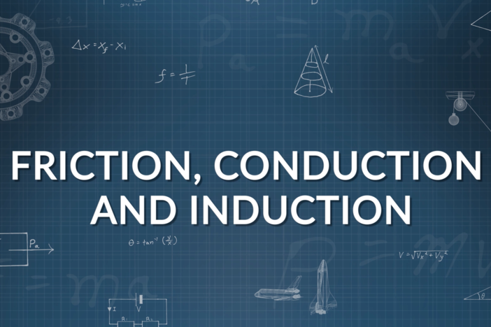 We explain and illustrate charging by friction, conduction, and induction.