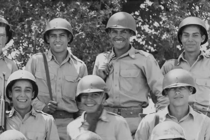 There's a long tradition of Latino-Americans serving in the military going back to WWII.