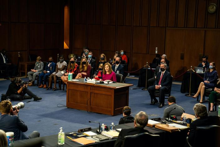 Politics and the pandemic permeate Day 1 of Amy Coney Barrett hearings