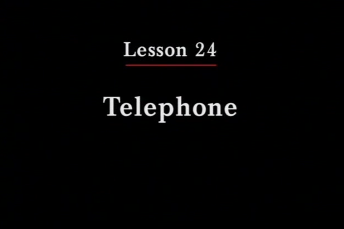JPN II, Lesson 24. The topic covered is the telephone.