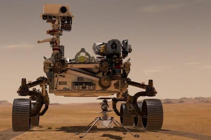 NASA's Perseverance rover and the first-ever space helicopter landed on Mars.