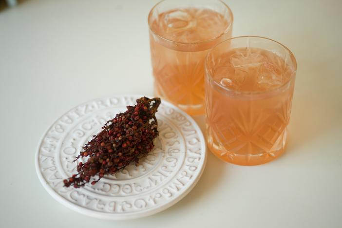 Sumac berries lend themselves for a lemony-earthy flavored spice or in a beverage.
