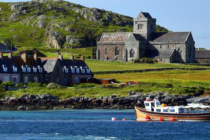 We'll wander across the Isles of Iona and Skye, then set sail for Orkney's Scapa Flow.